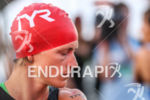 Linsey Corbin concentrates before the start of the 2013 Ironman…