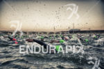 Age groupers during the chaos of the swim leg at…