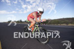 Michelle Vesterby on the bike at Ironman Arizona on November…