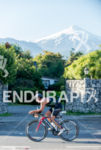 Biking with the Villarrica Volcano ot the background at the…