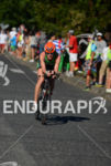 Sarah Piampiano riding at the 2014 Ironman 70.3 Pucón in…