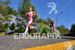Valetina Carvallo running on the flower path at the 2014…