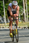 Frenchman Bertrand Billard riding at the 2014 Ironman 70.3 Panama…