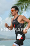 Javier Gomez running at the 2014 Ironman 70.3 Panama in…