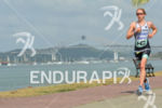 Svenja Bazlen running at the 2014 Ironman 70.3 Panama in…
