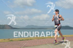 Ruth Brennan Morrey running at the 2014 Ironman 70.3 Panama…