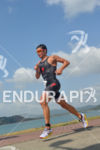 Javier Gomez running for victory at the 2014 Ironman 70.3…