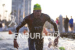 Andy Potts (USA) exits the swim leg at the Ironman…