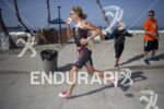 Julie Dibens (GBR) during the run leg at the Ironman…