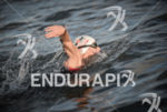 Amanda Stevens leading the swim at the 2014 Ironman 70.3…