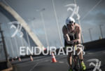 Pieter Heemeryck riding on the bike at the 2014 Ironman…