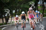 Valentina Carvallo leading the pack riding on the bike at…