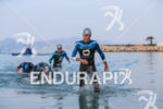 Frederic Belaubre exists the water after the first swim loop…