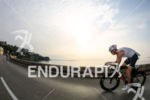 Amateur athlete at the begining of the bike course of…