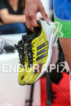 Frederic Belaubre bloddy shoes after completing on the run leg…