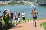 Brazil's Luisa Baptista running at the 2014 Brasilia FISU World…