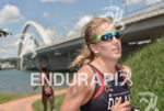 America's Erin Dolan running at the 2014 Brasilia FISU World…