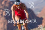 Jan Fredeno on bike at the  Ironman 70.3 St. George…