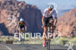 Jordan Rapp bikes through Snow Canyon State Park at the…