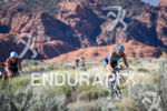 Meredith Kessler (USA) on bike through Snow Canyon State Park…