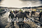 The Pro Men's category prepares to start the swim at…