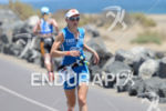 Lucy Gossage on the run portion of the 2014 Ironman…