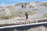 Athlete on the run portion of the 2014 Ironman Lanzarote…