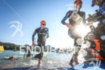 Albert Moreno Molins exits the water after the swim leg…