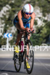 Jeanne Collonge during the bike leg of the 2014 Ironman…