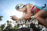 Gina Crawford during the bike leg of the 2014 Ironman…