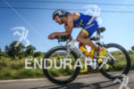 Jérémy Jurkievicz during the bike leg of the 2014 Ironman…
