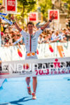 Bertrand Billard winning the 2014 Ironman 70.3 Pays d'Aix, Aix…