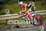 Lucie Zelenkova riding  at the 2014 Ironman Florianopolis in Florianopolis,…