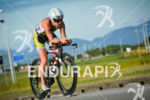 Sara Gross riding her bike at the 2014 Ironman Florianopolis…