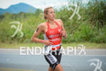 Sophie Goos running at the 2014 Ironman Florianopolis in Florianopolis,…