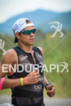 Igor Amorelli running for victory aat at the 2014 Ironman…