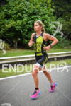 Sara Gross running at the 2014 Ironman Florianopolis in Florianopolis,…