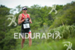 Jessie Donavan running at the 2014 Ironman Florianopolis in Florianopolis,…