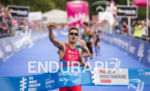 Mario Mola on the run at the 2014 London Itu…
