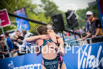Gwen Jorgensen USA and Sarah Groff USA at the 2014…