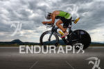 Christian Kramer on the bike at the 2014 Ironman Austria…