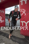 Andy Potts at the halfway turn-around during the swim leg…