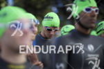 Age groupers prepare to start the swim leg at Ironman…