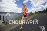 Kelly Williamson powering it during the run at Ironman Coeur…