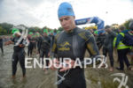 Jan Raphael prepares for the swim at the Ironman European…