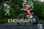Corinne Abraham on the bike at the Ironman European Championship…