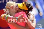 Sebastian Kienle and his girlfriend Christine Schleifer at the finish…