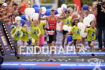 Corinne Abraham at the finish at the Ironman European Championship…