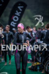 Caroline Gregory prepares for the start of the race at…