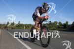 Callum Millward on bike at the 2014 Ironman 70.3 Vineman…